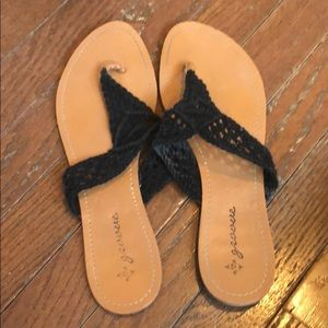 Shoes - 🌷3 for $15🌷crocheted black flip flops